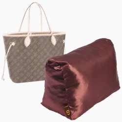 Satin Pillow Luxury Bag Shaper For Louis Vuitton Neverfull PM/MM/GM (Chocolate Brown) (More colors available)
