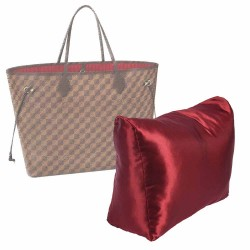 Satin Pillow Luxury Bag Shaper For Louis Vuitton Neverfull PM/MM/GM (Burgundy) - More colors available