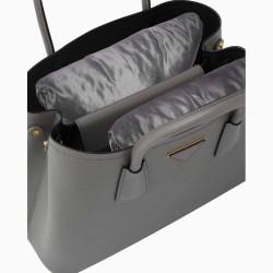 Satin Pillow Luxury Bag Shapers For Pr. Medium / Small Double Bag ( Set of 2 Pillows ) (Silver Gray) (More colors available)
