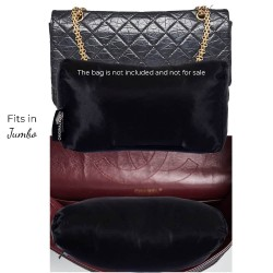 Satin Pillow Luxury Bag Shaper For Classic / 2.55 Flap Closure Shoulder Bag ( Medium, Jumbo, Maxi ) (Black) - More colors available
