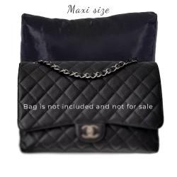 Satin Pillow Luxury Bag Shaper For Classic / 2.55 Flap Closure Shoulder Bag ( Medium, Jumbo, Maxi ) (Black) - More colors available