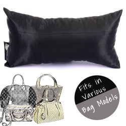 Satin Pillow Luxury Bag Shaper in Medium-Size For Designer Bags (Black) - More colors available