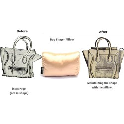 Satin Pillow Luxury Bag Shaper For Celine Luggage Bags (Champagne) - More colors available
