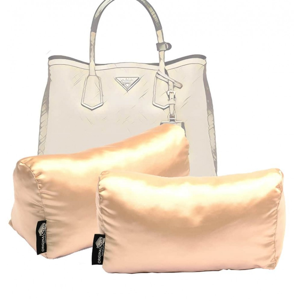 Satin Pillow Luxury Bag Shapers For Pr. Medium / Small Double Bag ( Set of 2 Pillows ) (Champagne) - More colors available