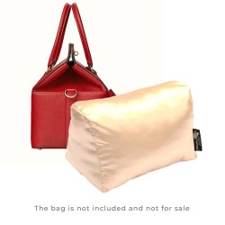 Satin Pillow Luxury Bag Shaper For Hermes' Toolbox 20 / 26 / 33 (Champagne) - More colors available
