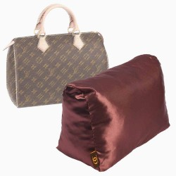 Satin Pillow Luxury Bag Shaper For Louis Vuitton Speedy 25/30/35/40 (Chocolate Brown) - More colors available