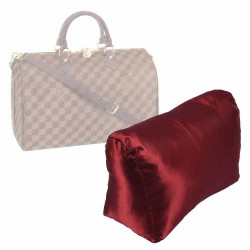 Satin Pillow Luxury Bag Shaper For Louis Vuitton Speedy 25/30/35/40 (Burgundy) - More colors available