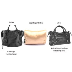 Satin Pillow Luxury Bag Shaper For Balenciaga Classic City and Small (Black) - More colors available