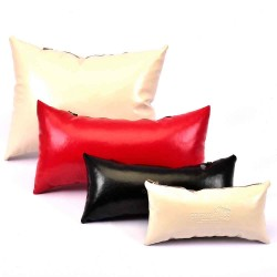 "Leather Pillow Bag Shaper In Medium Size (13,9"" X 7,48"" )"