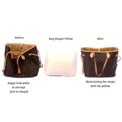 Leather Pillow Bag Shaper For Neverfull PM