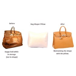 Leather Pillow Bag Shaper For Birkin 35