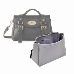 Alexa Mini Suedette Basic Style Leather Handbag Organizer Liner (Black) (More Colors Available)