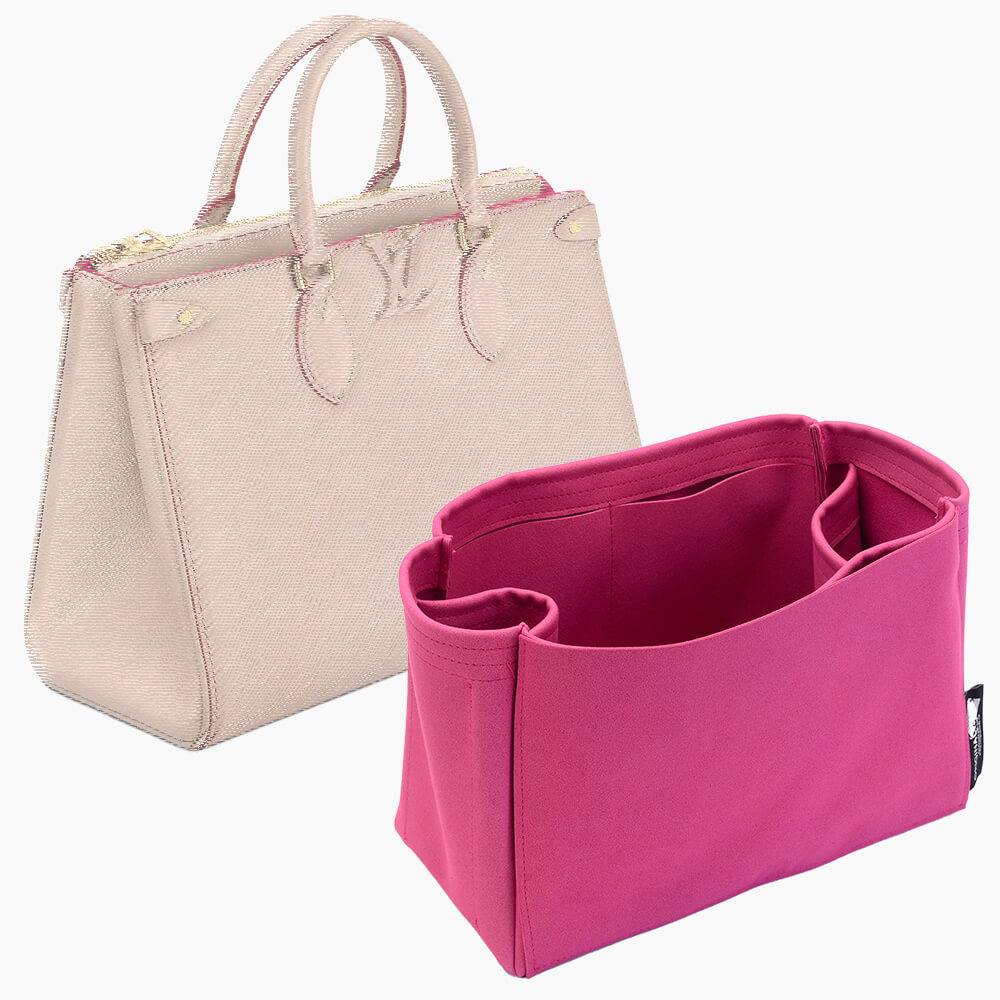 Grenelle Tote MM Suedette Regular Style Leather Handbag Organizer (Fuchsia) (More Colors Available)