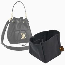 Lockme Bucket Suedette Singular Style Leather Handbag Organizer (Black) (More Colors Available)