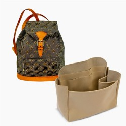 Montsouris MM / GM Suedette Leather Backpack Organizer (More Colors Available)