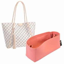 Propriano Tote Bag Suedette Regular Style Leather Handbag Organizer (Rose Pink) (More Colors Available)