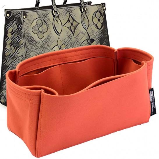 OntheGo Suedette Singular Style Leather Handbag Organizer (Orange) (More Colors Available)