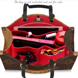 OntheGo Suedette Singular Style Leather Handbag Organizer (More Colors Available)