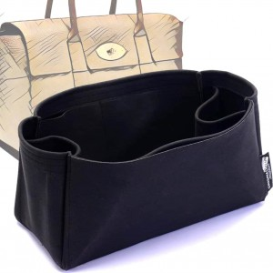 Bayswater Suedette Regular Style Leather Handbag Organizer (Black) (More Colors Available)