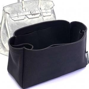 Birkin 25/30/35/40 Suedette Singular Style Leather Handbag Organizer (Black) (More Colors Available)