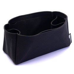 Cerf Tote Suedette Regular Style Leather Handbag Organizer (Black) (More Colors Available)
