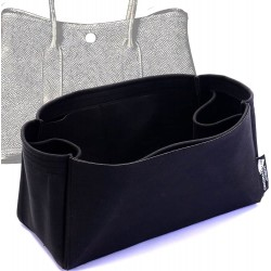 Garden Party 36 Suedette Regular Style Leather Handbag Organizer (Black) (More Colors Available)
