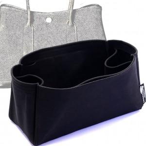 Garden Party 36 Suedette Regular Style Leather Handbag Organizer (Black) (More Colors Available)