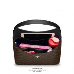 Flower Hobo Suedette Singular Style Leather Handbag Organizer (Black) (More Colors Available)