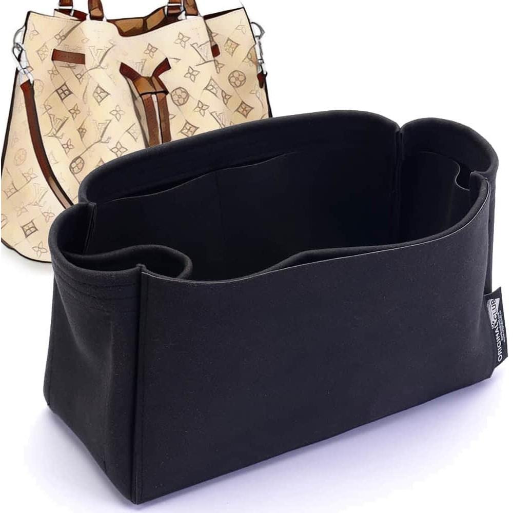 Girolata Suedette Singular Style Leather Handbag Organizer (Black) (More Colors Available)