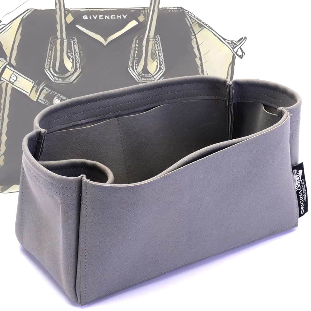 Givenchy Mini / Small / Medium Antigona Suedette Singular Style Leather Handbag Organizer (Dark Gray) (More Colors Available)