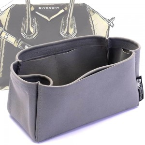 Givenchy Mini / Small / Medium Antigona Suedette Singular Style Leather Handbag Organizer (Dark Gray) (More Colors Available)