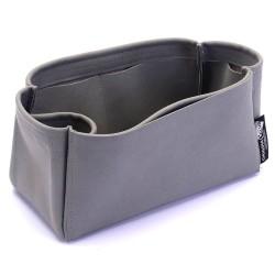 Small Zipped Bayswater Tote Suedette Singular Style Leather Handbag Organizer (Dark Gray) (More Colors Available)