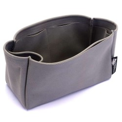 Birkin 25/30/35/40 Suedette Singular Style Leather Handbag Organizer (Dark Gray) (More Colors Available)