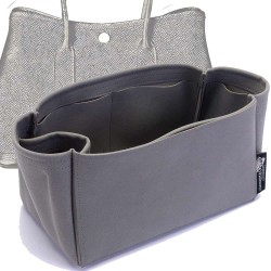 Garden Party 30 Suedette Singular Style Leather Handbag Organizer (Dark Gray) (More Colors Available)