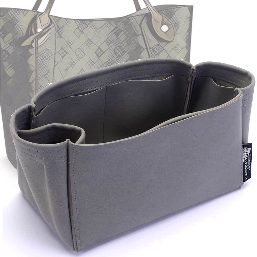Hina PM / MM Suedette Singular Style Leather Handbag Organizer (Dark Gray) (More Colors Available)