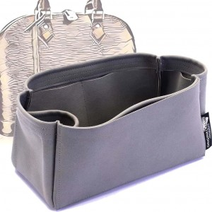 Alma PM / MM / GM Suedette Singular Style Leather Handbag Organizer (Dark Gray) (More Colors Available)