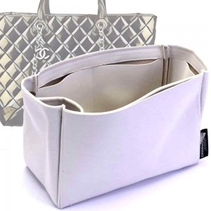 Easy Shopping Tote  Suedette Singular Style Leather Handbag Organizer (Pearl White) (More Colors Available)