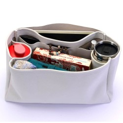 St Louis GM and Anjou GM Suedette Regular Style Leather Handbag Organizer (Pearl White) (More Colors Available)