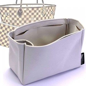 Neverfull PM / MM / GM  Suedette Singular Style Leather Handbag Organizer (Pearl White) (More Colors Available)