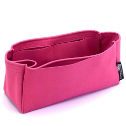 Graceful PM / MM Suedette Singular Style Leather Handbag Organizer (Fuchsia) (More Colors Available)