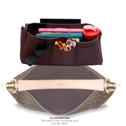 Berri PM / MM Suedette Singular Style Leather Handbag Organizer (Mahogany) (More Colors Available)