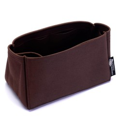 Iena MM Suedette Singular Style Leather Handbag Organizer (Mahogany) (More Colors Available)