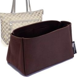 Iena MM Suedette Singular Style Leather Handbag Organizer (Mahogany)