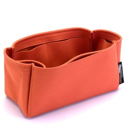 Birkin 25/30/35/40 Suedette Singular Style Leather Handbag Organizer (Orange) (More Colors Available)