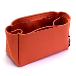 Birkin 25/30/35/40 Suedette Singular Style Leather Handbag Organizer (Orange)