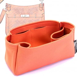 Jypsiere 28 Suedette Regular Style Leather Handbag Organizer (Orange) (More Colors Available)