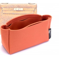 Kelly 25 /28 /32 /35 Suedette Basic Style Leather Handbag Organizer (Orange) (More Colors Available)