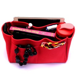 Speedy 25 / 30 / 35 / 40 Suedette Singular Style Leather Handbag Organizer (Red) (More Colors Available)