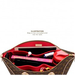 Tournelle PM / MM Suedette Singular Style Leather Handbag Organizer (Red) (More Colors Available)