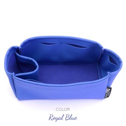 Birkin 25/30/35/40 Suedette Singular Style Leather Handbag Organizer (Royal Blue) (More Colors Available)